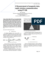 Detection and Measurement of magnetic data for short length wireless communication using FT-IR