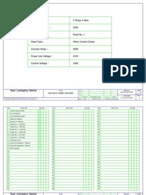 266219078 mcc panel wiring diagram and panel ga sample pdf Samsung Wiring Diagram