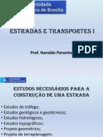 4 - Estudos Necessários Para Projeto de Rodovia - Estrada e Transportes I
