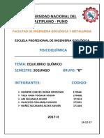 EQUILIBRIO QUIMICO (Grupo N° 3)