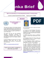 Sri Lanka Brief - Issue 6 31 August 2010- Two Accountability Mechanisms Recently Established