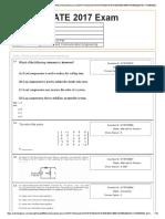 GATE Response Sheet Edited