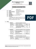 Memoria Descriptiva General