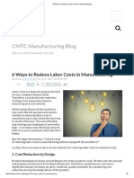 6 Ways to Reduce Labor Costs in Manufacturing