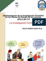 SESION N° 02 - IMPLEMENTACIÓN DE LA INVESTIGACION FORMATIVA
