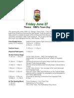 Eugene08 Festival Schedule