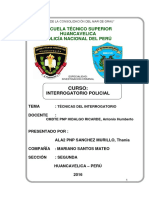 Tecnicas Del Interogatorio Policial Monografia Pnp 3