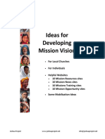 Ideas for Developing Mission Vision