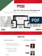 MSI Service Pro 2015 NADITA Presentation