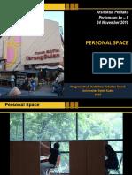 Materi Minggu 10_Konsep-Konsep Dalam Teori Perilaku Terkait Desain Lingkungan Binaan_PERSONAL SPACE