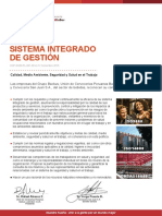 Politica Del Sistema Integrado de Gestion Backus