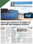 Obra que afecta a Trujillo se ejecutó sin ningún control