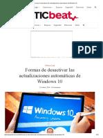 Formas de Desactivar Las Actualizaciones Automáticas de Windows 10