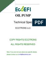 ECOTRONS Oil Pump Technical Spec (1)