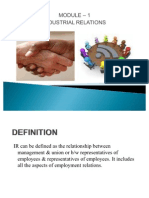 industrial relations background