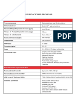 Especificaciones Bizhub 367