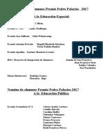 Nómina de Alumnos Premio Pedro Palacios 2017 1