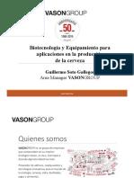 Biotecnología y Equipamiento para aplicaciones en la producción de la cerveza