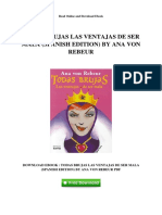 Todas Brujas Las Ventajas de Ser Mala Spanish Edition by Ana Von Rebeur