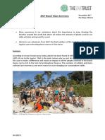 2017 Beach Cleans Summary