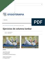 Ejercicios de Columna Lumbar _ EFisioterapia