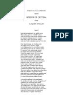 Diotima Poetical Paraphrase