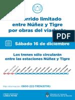 Servicio limitado linea Mitre 16.12.17
