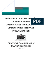 Guia para la elaboración de reportes de operaciones inusuales e Internas preocupantes