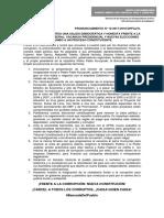 FRENTE AMPLIO PLANTEA UNA SALIDA DEMOCRÁTICA Y HONESTA FRENTE A LA CORRUPCIÓN NEOLIBERAL