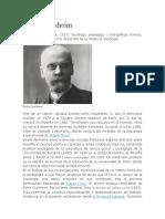 Biografia de Emile Durkheim