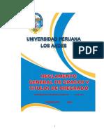 Reglamento General de Grados y Titulos 04-11
