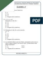 Esaa Álgebra Reforzamiento Tercero
