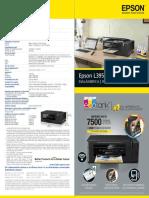 Folleto Epson EcoTank L395