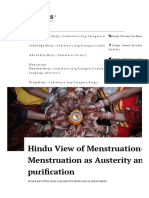 Hindu View of Menstruation- II_ Menstruation as Austerity and Self-purification _ IndiaFactsIndiaFacts
