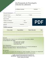 admision Asociación Panameña de Psicolog