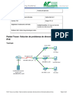 7.3.2.9 Packet Tracer - Troubleshooting IPv4 and IPv6 Addressing.docx