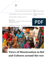 Views of Menstruation in Religions and Cultures Around the World _ IndiaFactsIndiaFacts