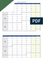 Calendario Semanal 2018 Para Organizarse