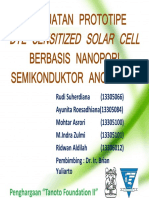 Pembuatan Prototipe Dye Sensitized Solar Cell Berbasis Nanopori Semikonduktor Anorganik