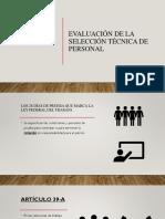 evaluacion de la seleccion tecnica de personal
