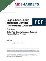 Lagos - Jibiya Transport Corridor Analysis