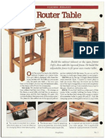 Craft Woodworking - Router Table #2