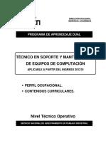 Soporte y Mantenimiento de Equipos de Computación 201210