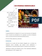 Absorcion de Vitaminas Hidrosolubles