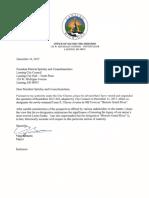Bernero's notice of veto