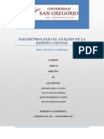 Trabajo Parámetros Para El Análisis de La Estética Dental