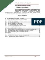 12. Especificaciones Técnicas Agua El Tambo