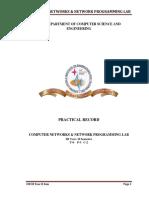 CN&NP LAB Manual R13 Regulation