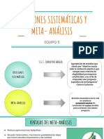 Revisión Sistemática y Meta- Análisis