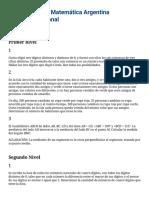 OMA - XVIII Olimpíada Matemática Argentina. Certamen Regional